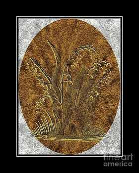 Barbara Griffin - Brass Etching - Oval - Lily of the Valley