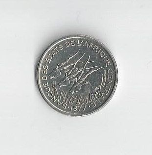 A 1977D Central African States 50 Francs by COLLECTORSCENTER