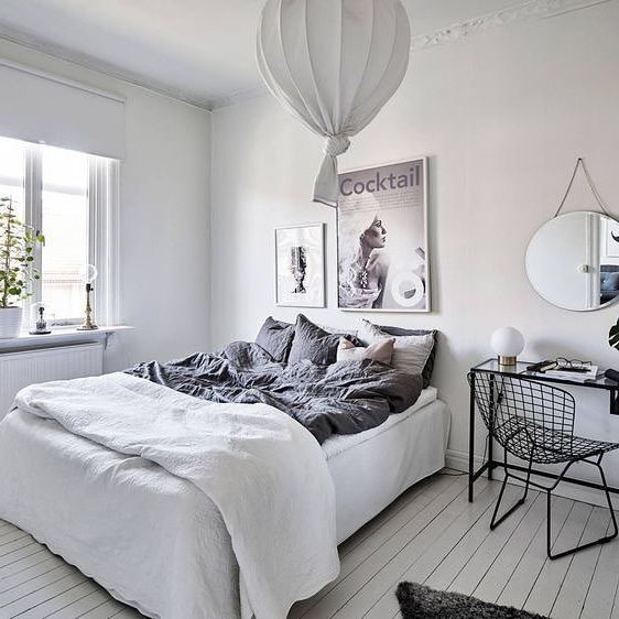 Gah what a gorgeously styled bedroom complete with desk area, definite inspo for our guest bedrooms, the way the bed is made is different to here in Australia and I'm fascinated  via @stadshem and @gravityhomeblog