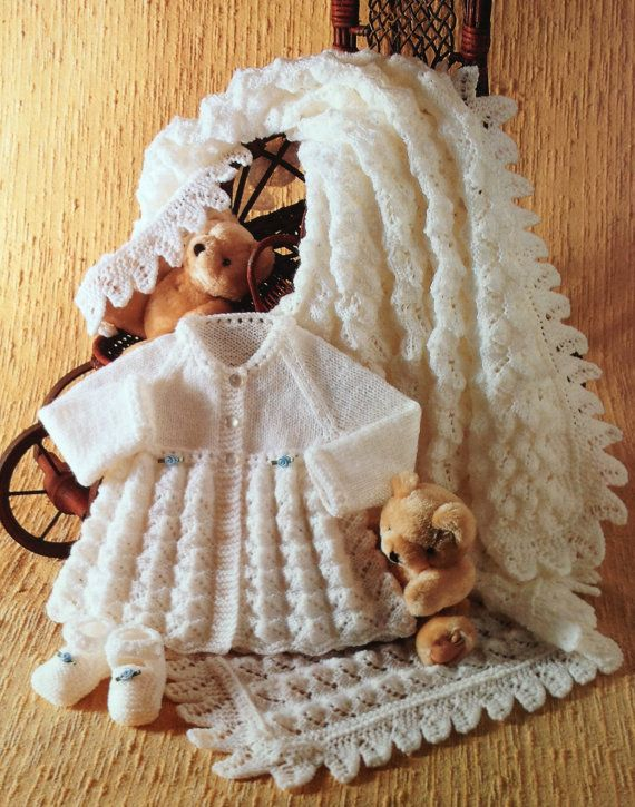 Hey, I found this really awesome Etsy listing at https://www.etsy.com/listing/207121794/baby-knitting-pattern-vintage-matinee