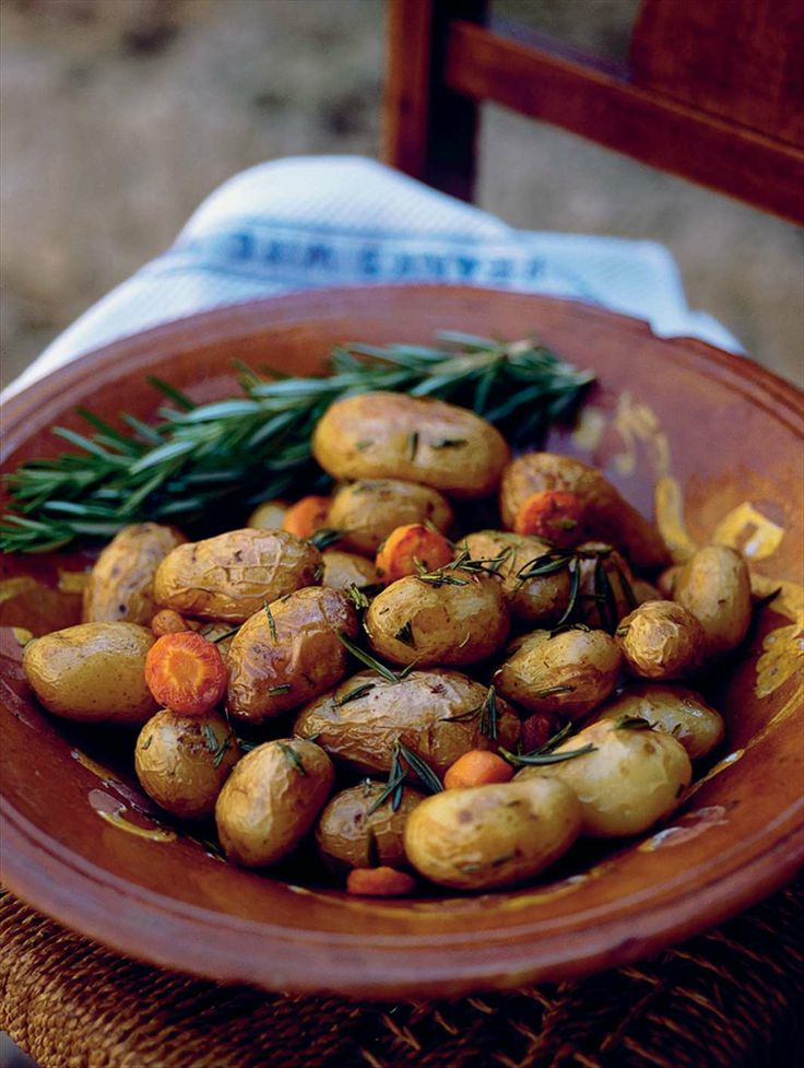Rosemary and carrot potatoes by Anna & Fanny Bergenström from Under the Walnut Tree   Cooked