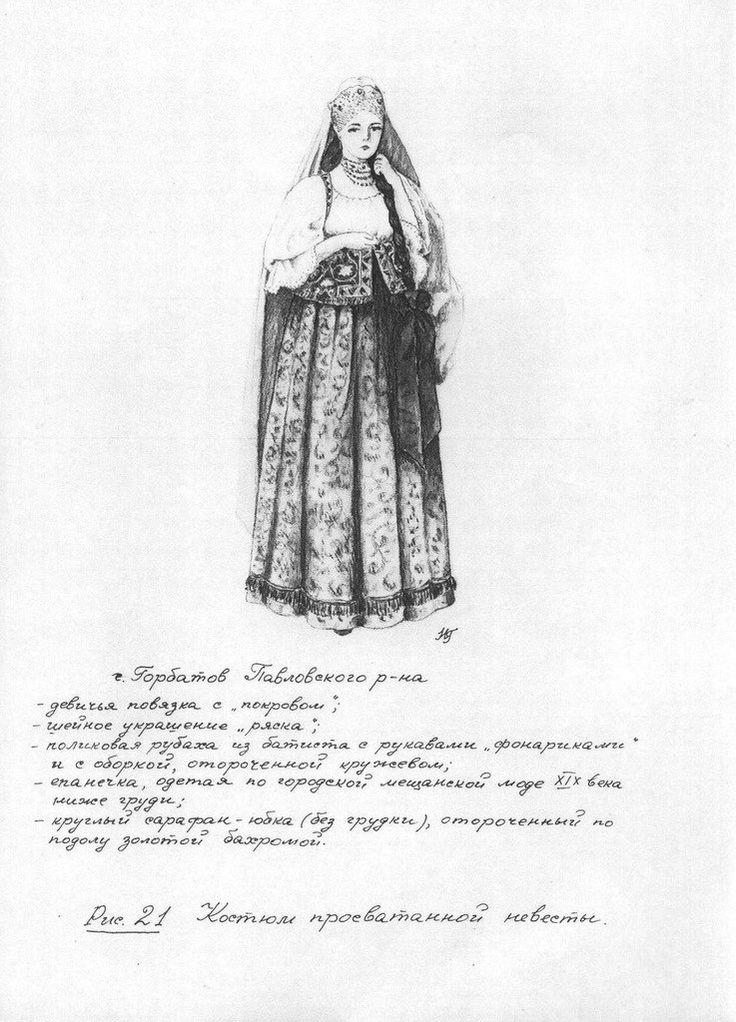 г.Горбатов-костюм просватанной невесты