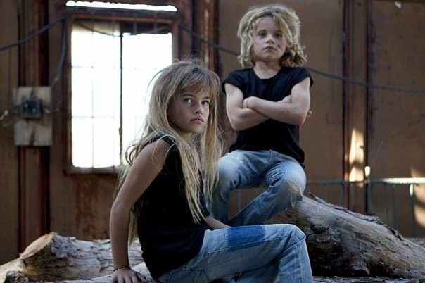 Thylane Blondeau And Her Little Brother
