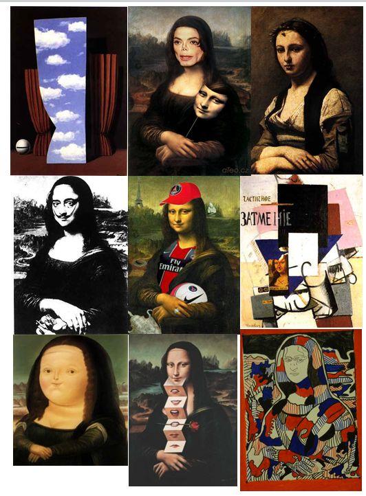 arts visuels : détournement de la Joconde - CM                                                                                                                                                                                 Plus