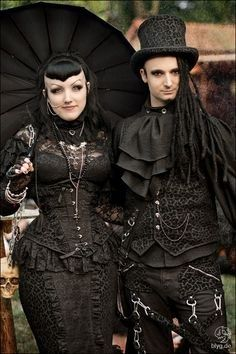 What Kind Of Goth Should You Be? You got: Steampunk Goth Steampunk goth is a fusion of Classic Goth, Victorian Goth, with just a touch of Rivethead. Steampunk is the most playful and creative of all goth subcultures. They love old school horror, retro futurism, and wearing hats with nonfunctional gears hot glued to them.---Fits.