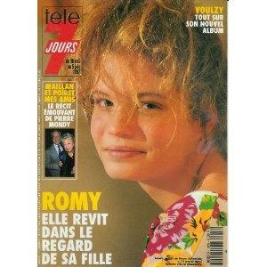 Romy Schneider : Elle revit dans le regard de sa fille Sarah Biasini, dans Télé 7 jours (n°1670) du 30/05/1992 [couverture et article mis en vente par Presse-Mémoire]