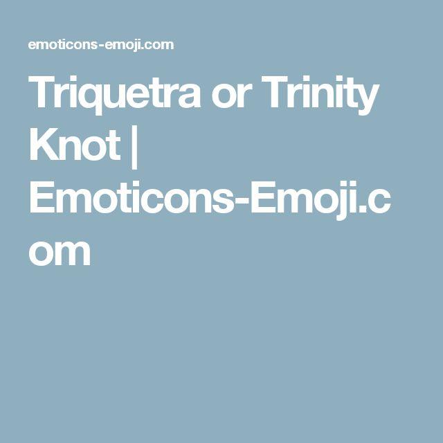 Triquetra or Trinity Knot | Emoticons-Emoji.com