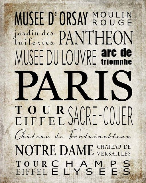 Paris poster that you can download and print if you like. You can find it here - French is our foreign language - a nice visual for our school room!