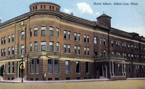 Hotel Albert, Albert Lea Minnesota, 1910's