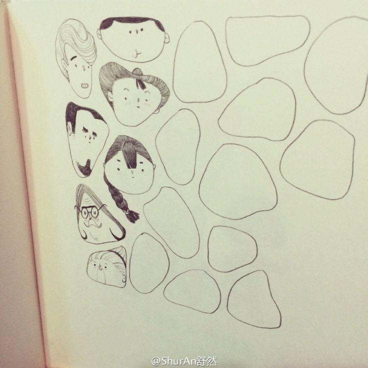 Doodle inspiration: turn random circle shapes into people faces