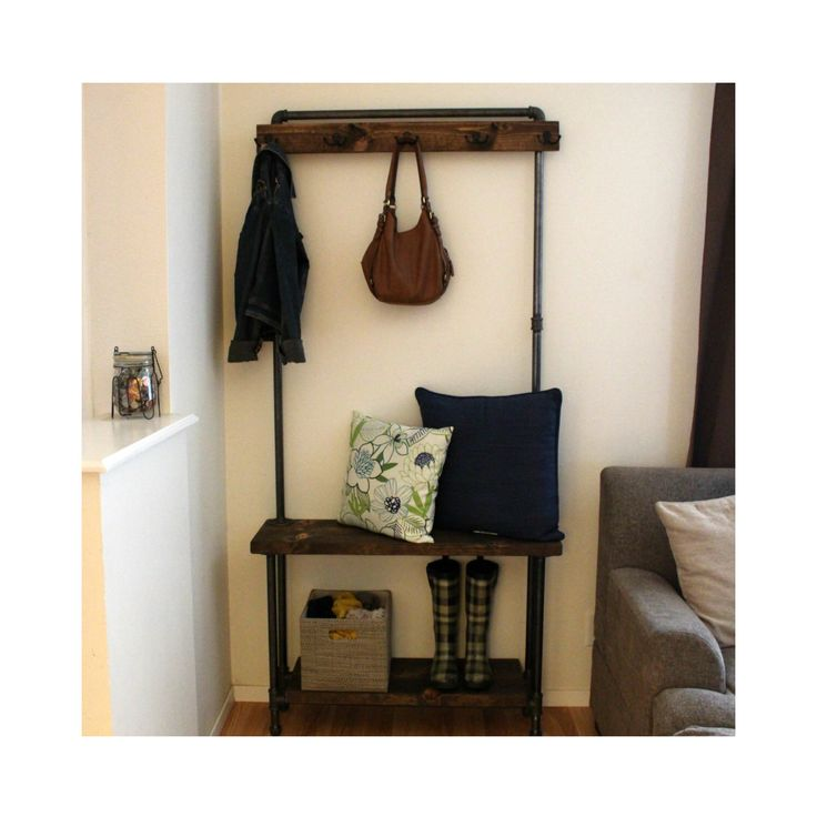 Industrial Hall Tree - Rustic Entry Way Storage - Living Room Furniture - Coat Rack - Entry Way Bench by MaverickIndustrial on Etsy https://www.etsy.com/listing/511657767/industrial-hall-tree-rustic-entry-way