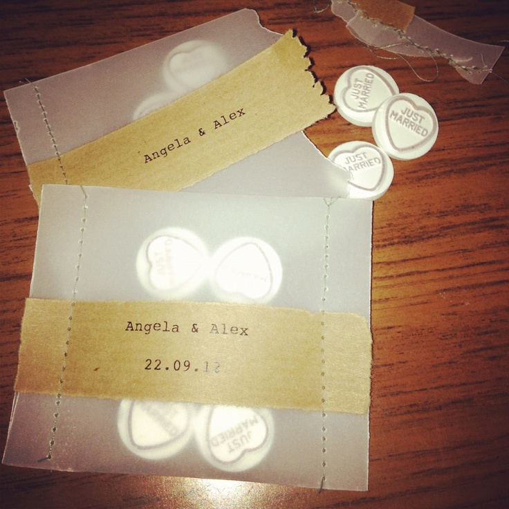 Homemade favours for my sisters wedding