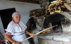 Slovakia ,traditional way of baking bread in south slovakia