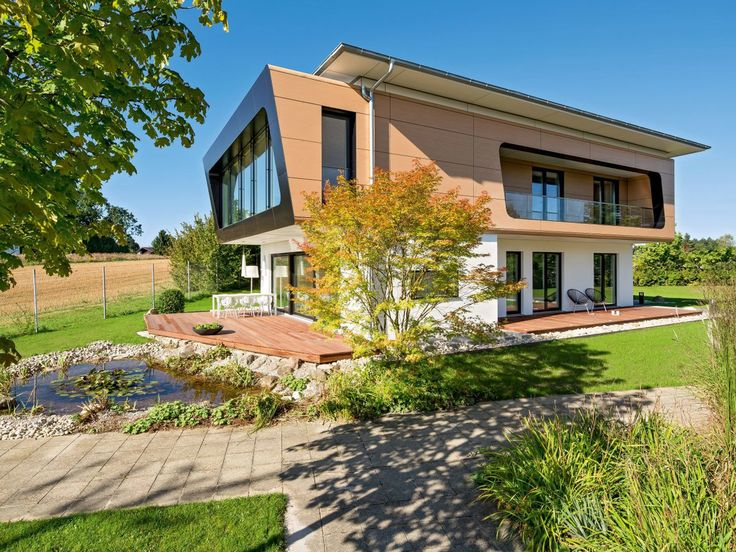 37 besten energiesparhaus bilder auf pinterest ansicht for Musterhaus flachdach