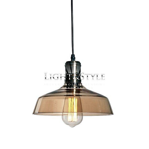 Wisząca lampa industrialna Raw Glass 4, Light&Style  Materiał: szkło, metal Średnica 26cm Wysokość 25cm E27 60W