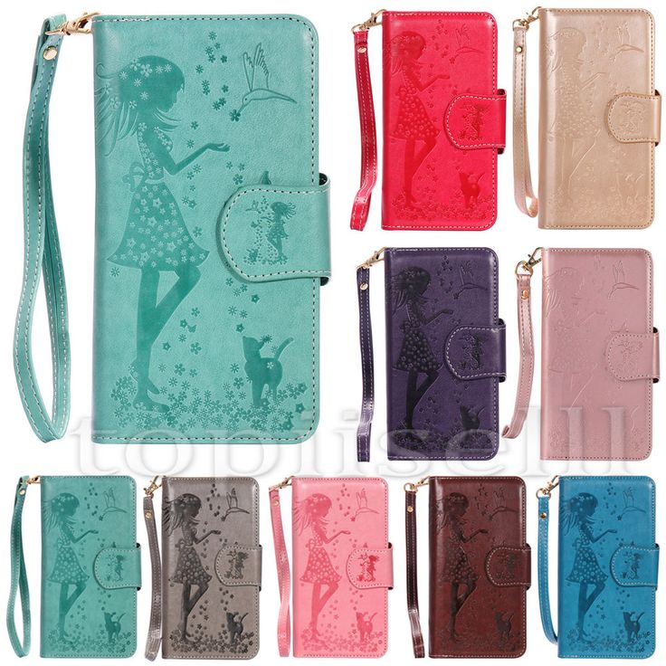 Fashion Mirror Flip Patterned PU Leather Wallet Lot Card Pocket Stand Case Cover