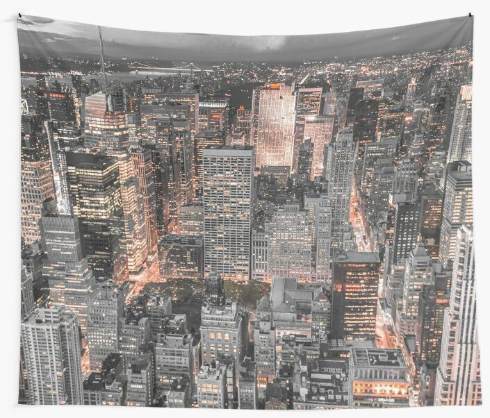 New York City Skyline Iii Tapestry With Images City Skyline New York City Photos Ny Trip