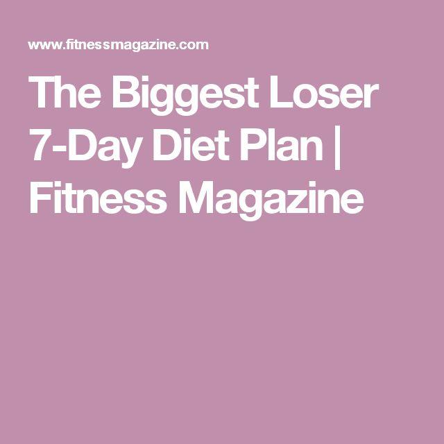 The Biggest Loser 7-Day Diet Plan | Fitness Magazine