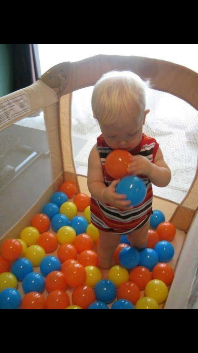 Turn Your Pack N Play Or Yard Into A Ball Pit For Toddler That Still Needs Occasional Containment But Also Wants Entertainment