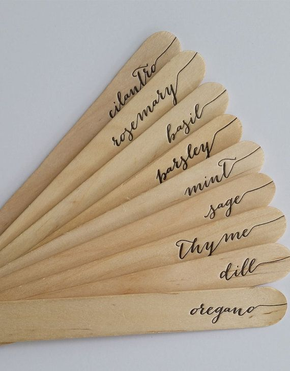 Letterpress herb garden markers!   https://www.etsy.com/listing/188290466/herb-garden-markers-printed-on-antique