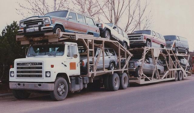 Grand Wagoneer, Jeep Cherokee Chief, Chevy Suburbans on IH by PAcarhauler, via Flickr