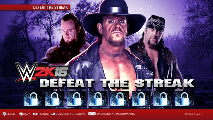 WWE 2K16 Defeat The Streak DLC Game Mode Notion   WWE 2K16 ...