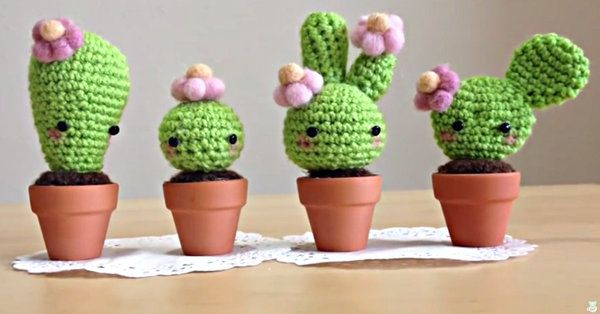 These Amigurumi Crochet Kawaii Cacti Just Might Be The Cutest Things Ever!