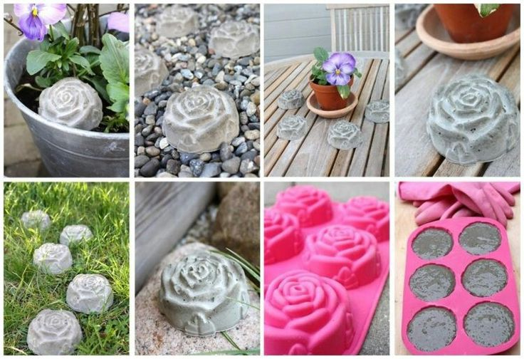 Rosen aus Beton