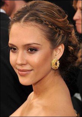 Jessica_Alba braided chignon