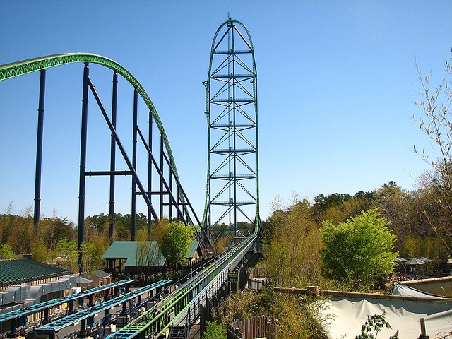 Kingda Ka world's tallest roller coaster world's second fastest - Six Flags Great Adventure, Jackson, New Jersey