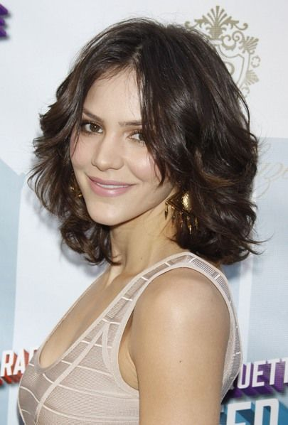 Katharine McPhees gorgeous, brunette hairstyle...my new summer do...love that it's long enough to pull back and short enough to style....loving it