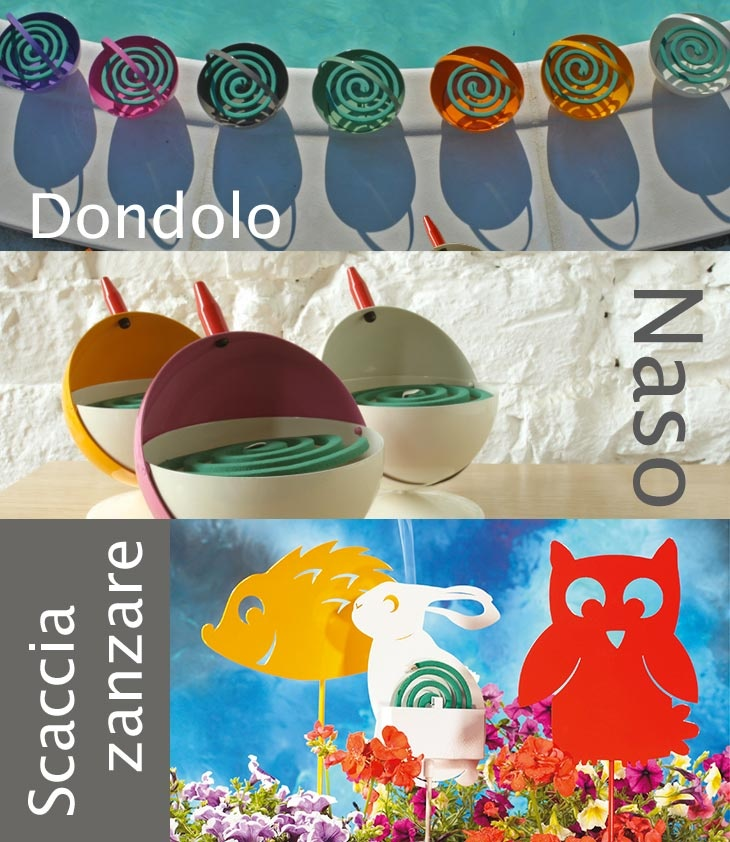 Dondolo, Naso e gli Animali Scaccia Zanzare sono una soluzione divertente per creare una vera e propria barriera anti-zanzare e vivere in tutta tranquillità il nostro outdoor d'estate!   DONDOLO http://www.cbstudio.net/gift-ideas/dondolo.html CIVETTA  http://www.cbstudio.net/outdoor/civetta.html NASO http://www.cbstudio.net/gift-ideas/naso.html