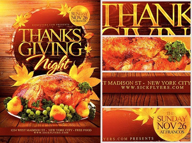 Thanksgiving Flyer Template Free Lovely Thanksgiving Night Flyer Template Flyerheroes In 2020 Free Psd Flyer Templates Flyer Template Template Free