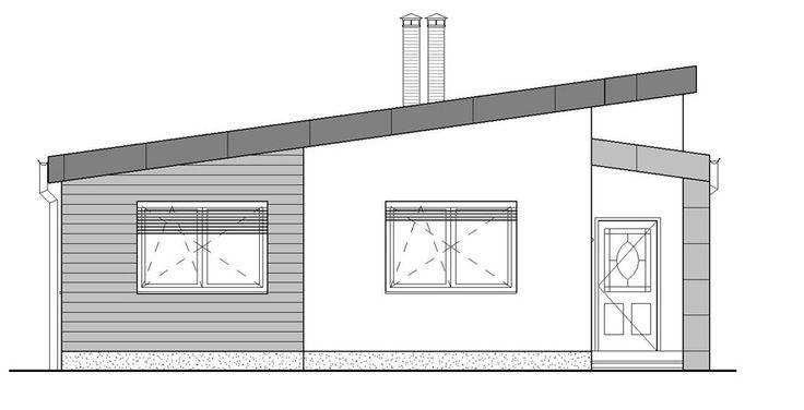 moderny bungalov pohlad z ulice / ground plan / bungalow