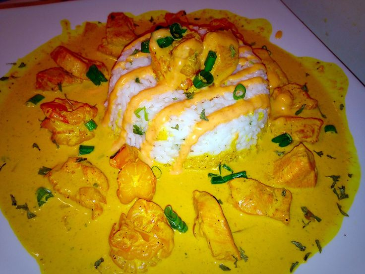 Amazing Tropical CHICKEN & RICE with Homemade BANG BANG SAUCE! #image #food #cook #kitchen