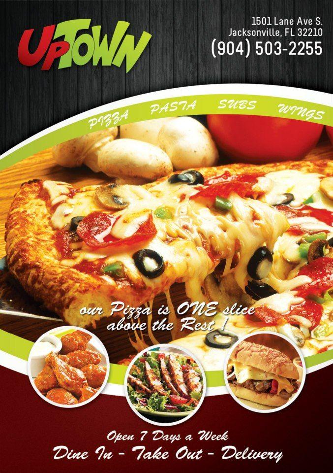 Uptown Pizza Subs & Wings #KnightsInn #Jacksonville #Downtown #FL #Florida #Hotel #Travel #Dining #Restaurants
