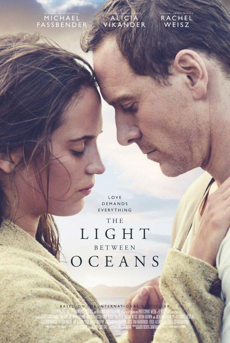 LIGHT BETWEEN OCEANS (DVD Release Date: 1/24/17) Starring: Michael Fassbender, Alicia Vikander, Rachel Weisz, Jack Thompson -- A lighthouse keeper, living off the coast of Australia with his wife, all of a sudden finds a baby from an adrift rowboat. They rescue and raise the child as their own.