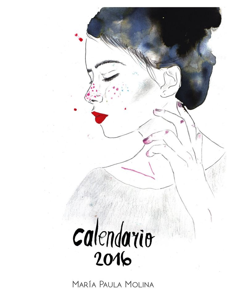 Calendar//Calendario 2016 by HelloPaulaMolina on Etsy