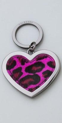 Mulberry Cheetah Key Ring