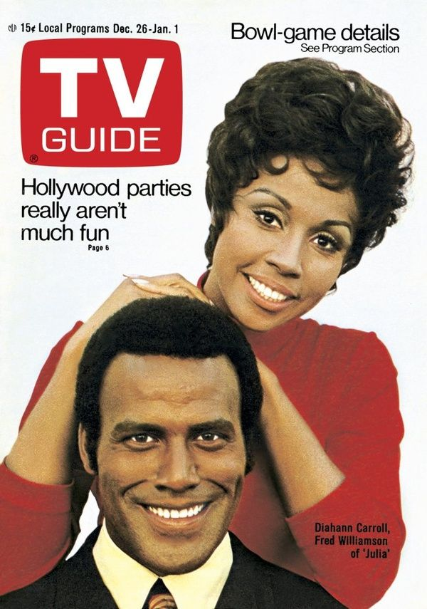 Diahann Carroll and Fred Williamson on the cover of the Dec. 26-Jan 1, 1971 issue of TV Guide.