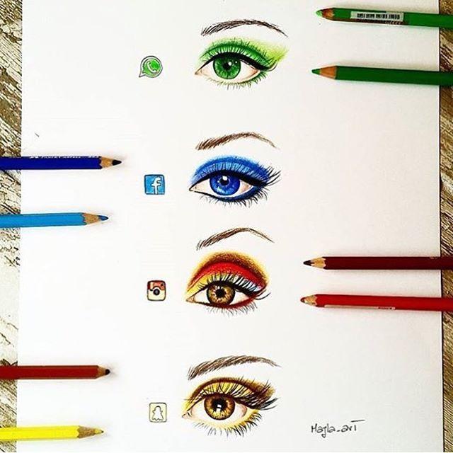 Social Media Eyes By: @majla_art Follow us for more! @just_arts_help