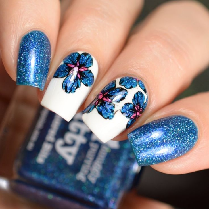 Picture Polish Shades Available At Color4Nails Nail Art stamping design floral print
