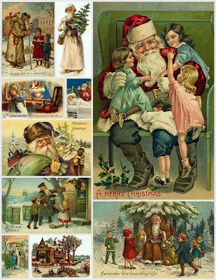 Magic Moonlight Free Images: Christmas Collages for You!