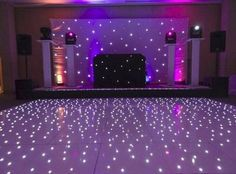 ~ Glow On -- Black Light Dance Floor: It's not just for the 70's anymore. Turn on that purple glow with a black light activated dance floor cover. Hang a strobe light and set up a bubble machine...