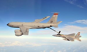 F-15C Eagle from the 67th Fighter Squadron at Kadena AB is refueled by a KC-135R Stratotanker from the 909th Air Refueling Squadron .jpg