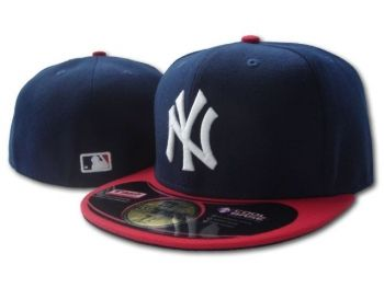 Casquette NY New York Yankees MLB 59Fifty Marine Rouge Casquette New Era Pas Cher