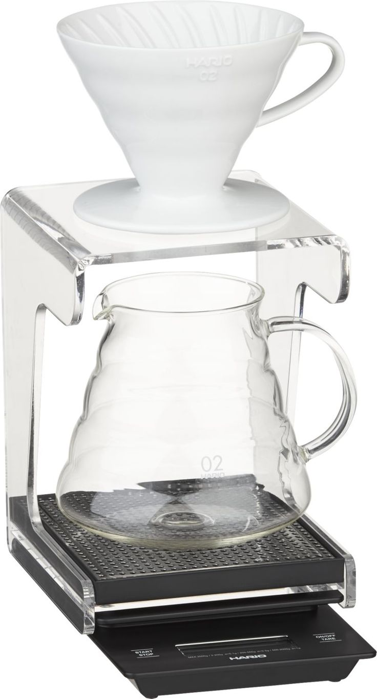 Hario V60 Coffee Maker System  | Crate & Barrel - no more slipping off your coffee mug!