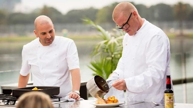 MasterChef Australia Heston Blumenthall's MasterClass: Roast Chicken, Roast Potatoes and Gravy.