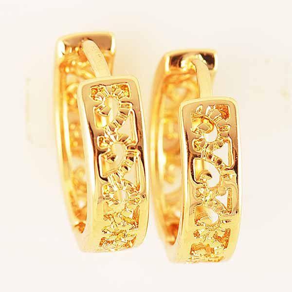 Винтажные золотые серьги Gold Filled, фото 1