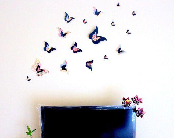 Cele mai bune 25+ de idei despre 3d butterfly wall decor numai pe ...